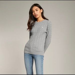 Jack Wills TINSBURY CLASSIC CABLE CREW SWEATER